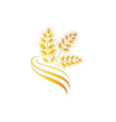 wheat icon agriculture farm logo natural product vector image