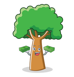 With money tree character cartoon style vector