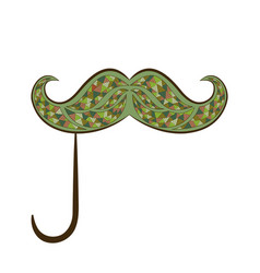 Zen tangle mustache on a stick zentangle fake vector