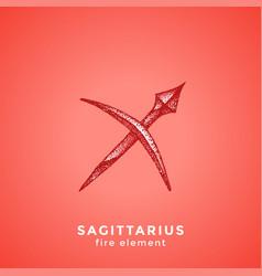 Zodiac sagittarius vector