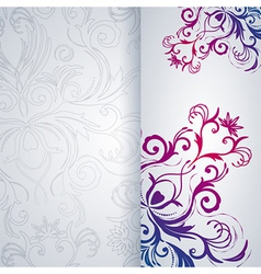 Abstract background with floral item vector image vector image