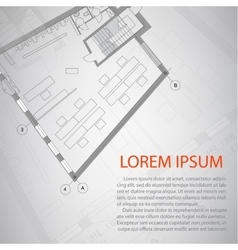 Detailed architectural plan Eps 10 vector image
