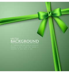 elegant background with green bow vector image vector image