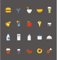 food icons collection Flat design vector image