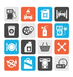 Gas station services icons vector