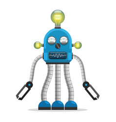 robot with light bulbs and indicators vector image