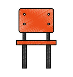 school chair isolated icon vector image