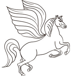silhouette of a horse with wings - pegasus vector image vector image