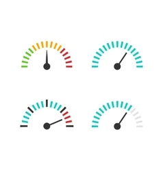 Speedometer icon set speed vector image