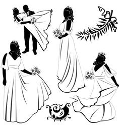 Wedding Pairs vector image vector image