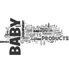 babycity baby clothes and baby gifts online text vector image vector image