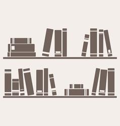 Books on the shelves vector image