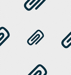 clip to paper icon sign Seamless pattern with vector image