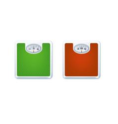 floor weight scales vector image