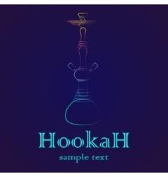 Hookah outline gradient vector image
