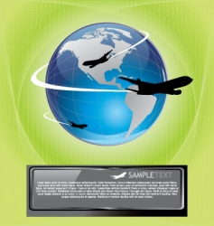 plane background vector image vector image