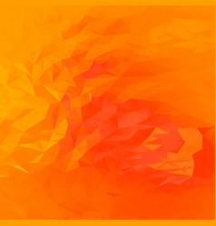 abstract orange polygonal background vector image vector image