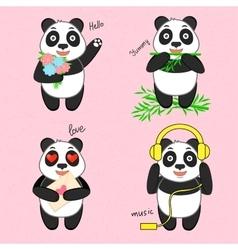 Funny cartoon panda vector image