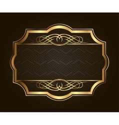 Golden frame for placing your picture or text vector image