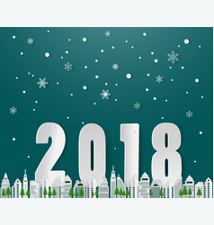happy new year on winter seasonsnowflake vector image vector image