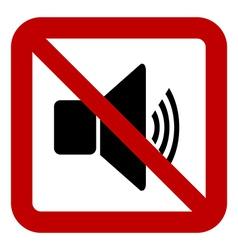 No speaker volume sign vector image vector image