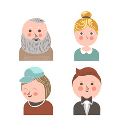 people face avatars for social net applications vector image vector image