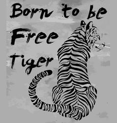 tiger t-shirt graphic slogans design vector image vector image