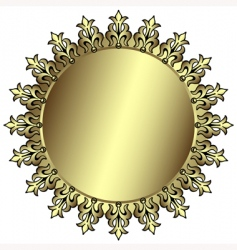 vintage silvery round frame vector image