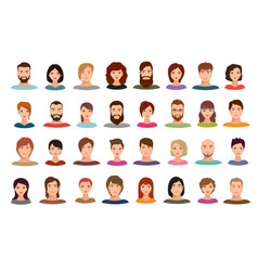 women and men business people team avatars vector image vector image