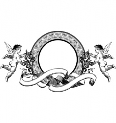 angels heraldry vector image