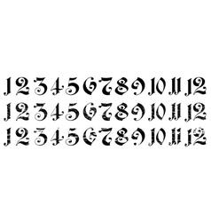 Arabian numerals vector image