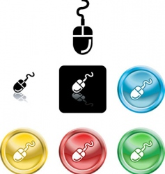 computer mouse icons vector image vector image