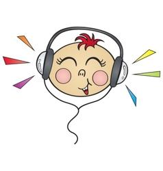 happy music vector image