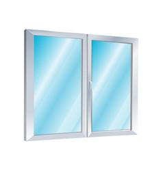 icon plastic windows construction industry vector image