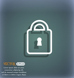 Lock icon symbol on the blue-green abstract vector image vector image