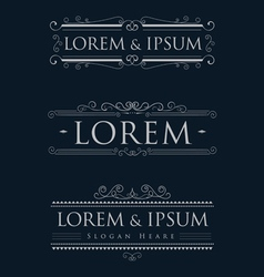 luxury logos template calligraphy flourishes vector image vector image