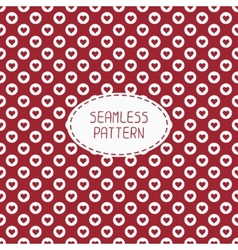 Red romantic wedding geometric seamless pattern vector image vector image