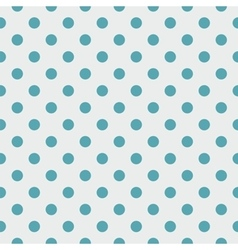 Tile pattern blue polka dots on grey background vector image vector image