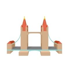 Tower bridge in london icon cartoon style vector
