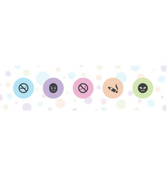 5 bad icons vector