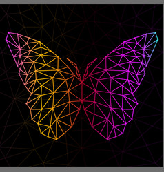 Abstract butterfly of lines and dots vector