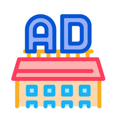 Ads sign on rostore icon outline vector
