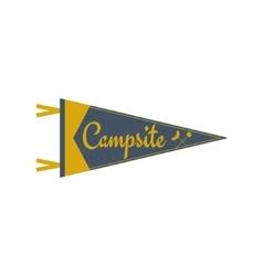 Adventure pennant campsite pennant explorer flag vector