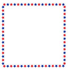 American flag stars symbols border vector