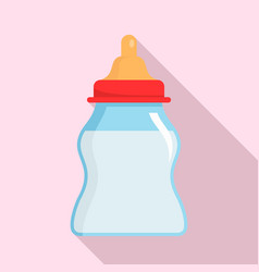 baby milk bottle icon flat style vector image