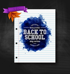 Back to school card Chalkboard typography design vector