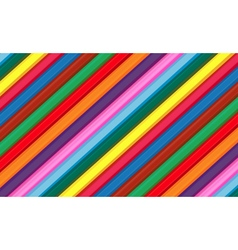 Background of wooden color pencils set vector image