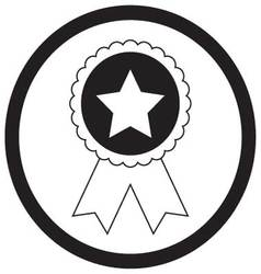 Badge star monochrome vector image