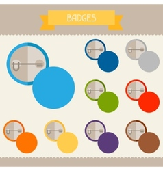 Badges colored templates for your design in flat vector image