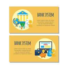 bank system design banners vector image